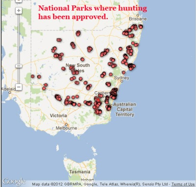 National Parks where hunting has been approved