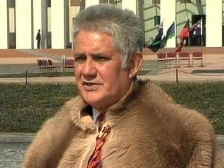 Ken Wyatt outside Parliament