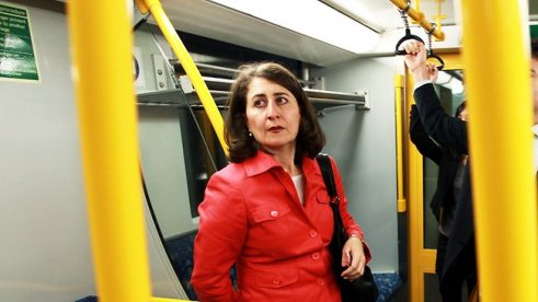 "Gladys ""So this is what the inside of a train looks like"" Berejiklian"