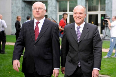 Huge phone bills and hot air - Stage managers Brandis and Abetz