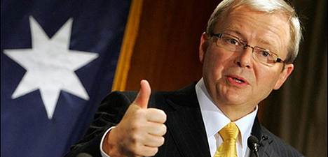Kevin Rudd - It's thumbs up from me
