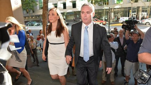 Craig and Zoe arrive for yet another expensive day in court