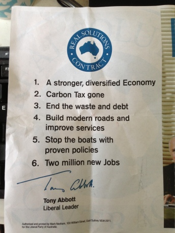 The back of a Liberal How To Vote flyer