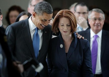 "Abbott describes Obama's friend Julia as ""whacko""... That will go down well Tony"