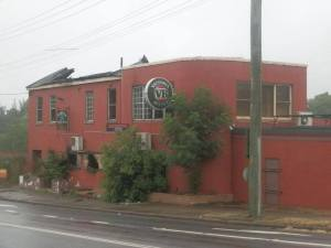 The remaining shell of the Jolly Frog