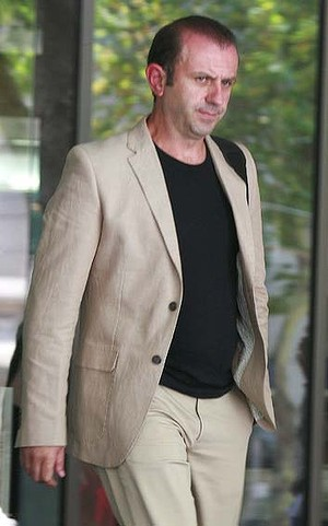 Mr Lazaris leaves the set of Miami Vice